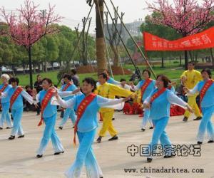 湖北省赵李桥茶厂有限责任公司赞助参与赤壁市全民饮茶日公益活动